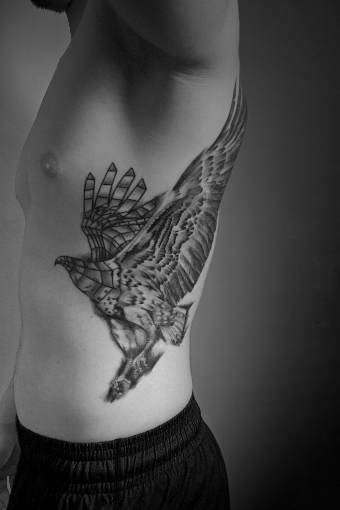 tatouage réalisé par Sébastien du studio de tatouage Artcore Tattoos, à Toulouse.