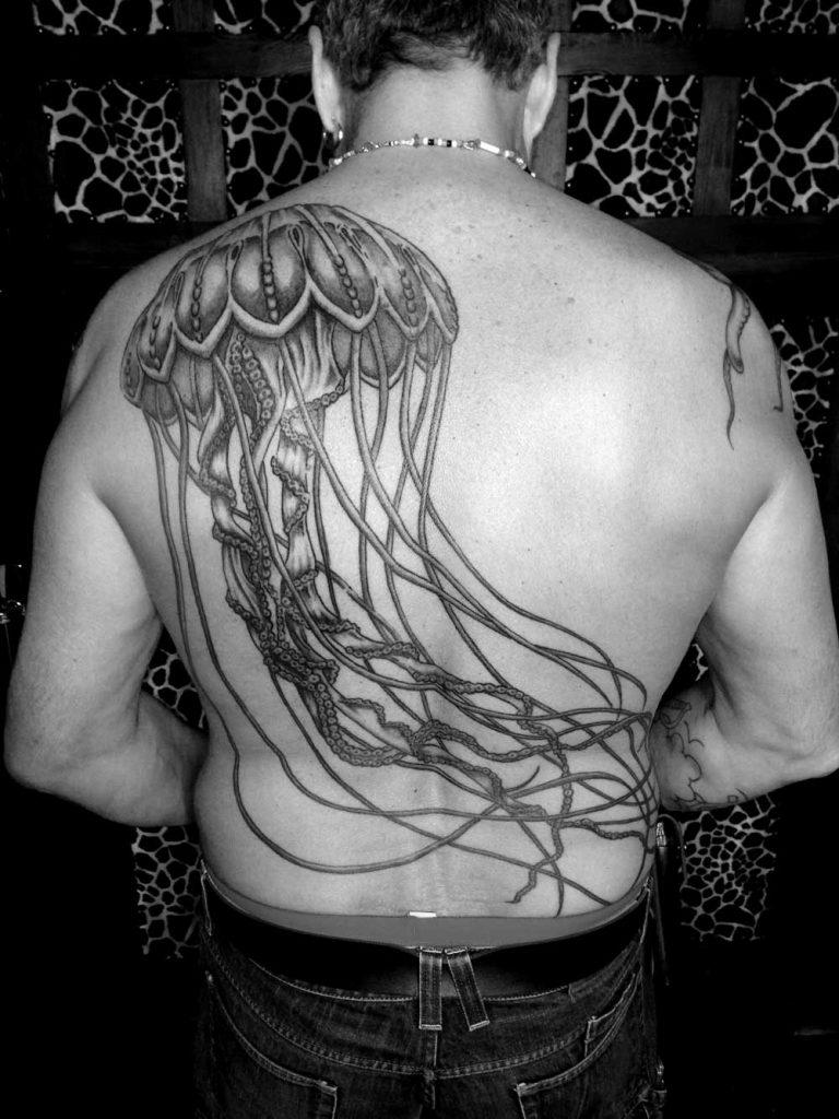 tatouage méduse