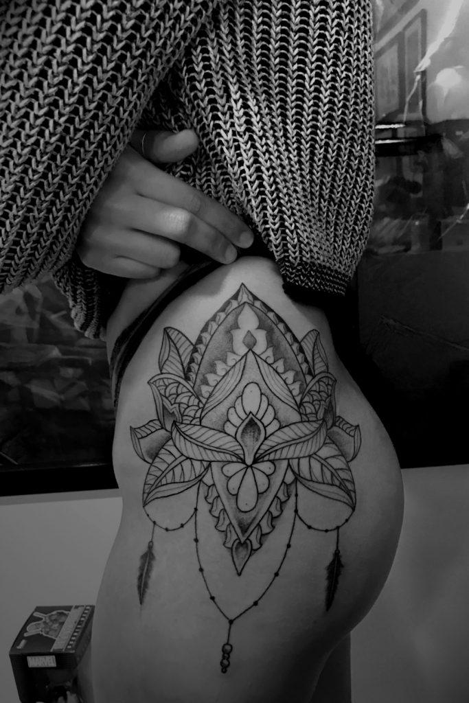 tatouage réalisé par Brice du studio de tatouage Artcore Tattoos, à Toulouse.